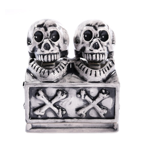 NEIGHBORHOOD DUAL SKULL INCENSE CHAMBER BLACK