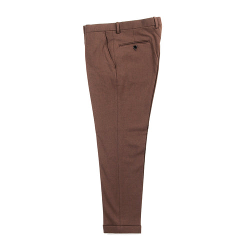N.HOOLYWOOD 192-PT02 TAPERED TROUSERS BROWN