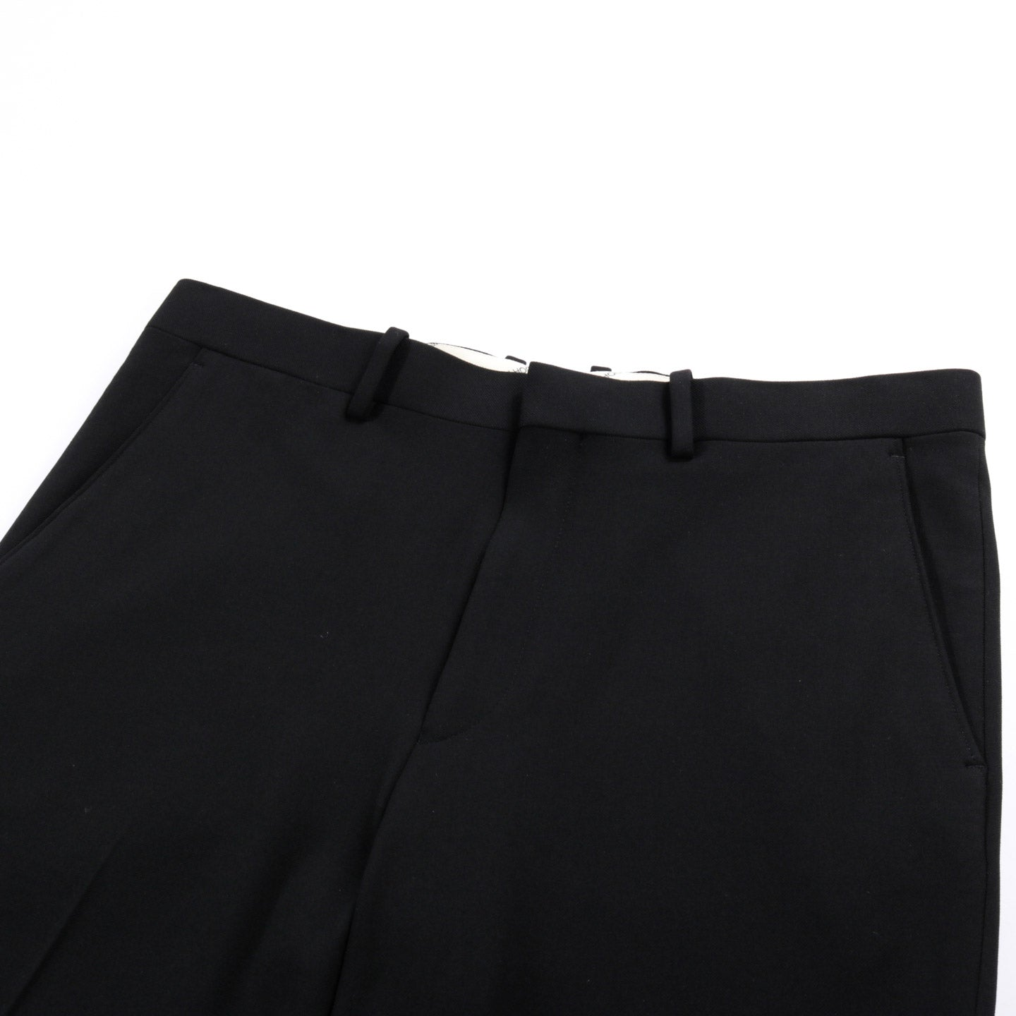 N.HOOLYWOOD 1202-PT02 TAPERED TROUSERS BLACK