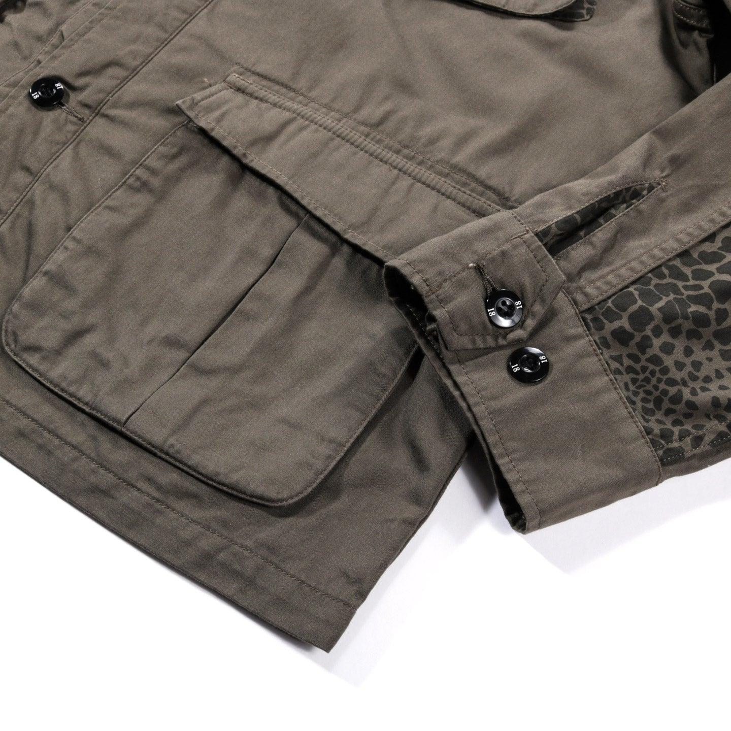 NEIGHBORHOOD MIL-CARGO OVERSHIRT OLIVE DRAB