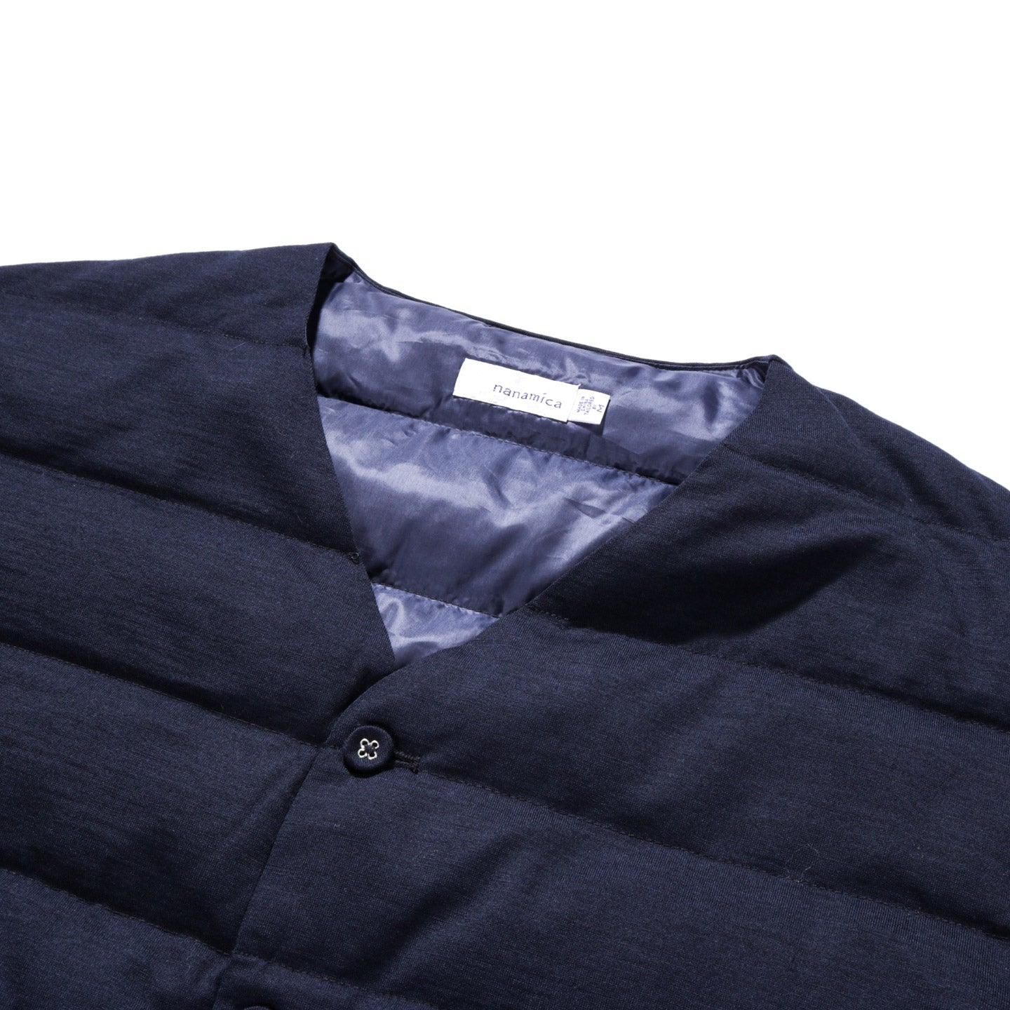 NANAMICA DOWN CARDIGAN NAVY