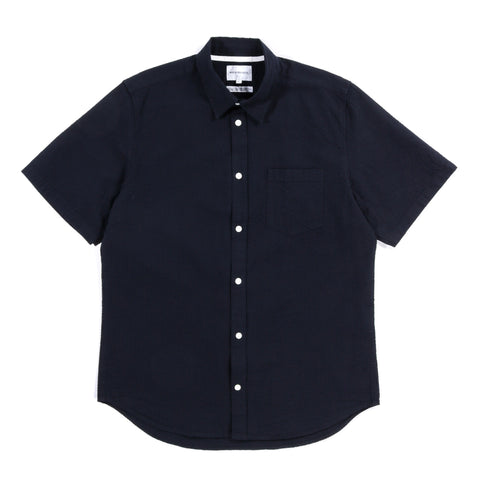 NORSE PROJECTS OSVALD SEERSUCKER SS DARK NAVY