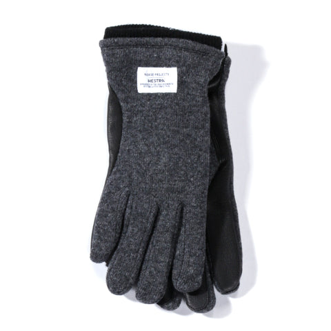 NORSE PROJECTS HESTRA SVANTE GLOVES CHARCOAL