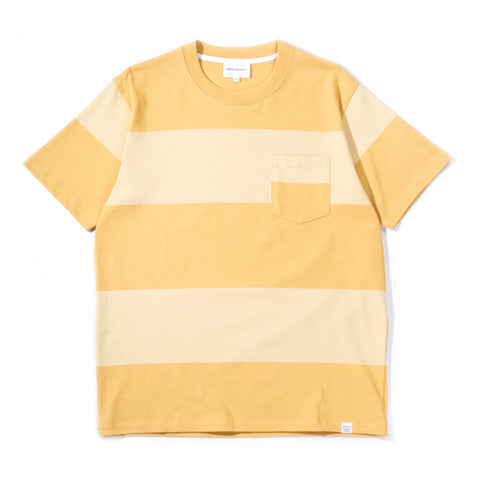 NORSE PROJECTS JOHANNES BLOCK STRIPE SUNWASHED YELLOW