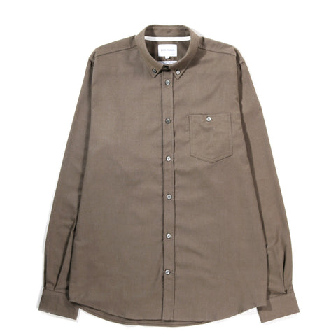 NORSE PROJECTS ANTON BRUSHED FLANNEL BEECH GREEN