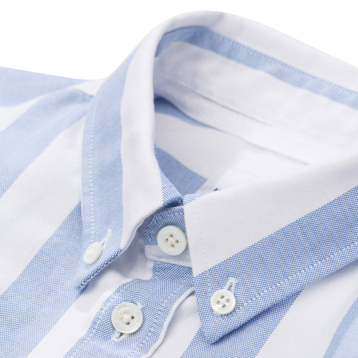 NORSE PROJECTS THEO OXFORD SS PALE BLUE WIDE STRIPE