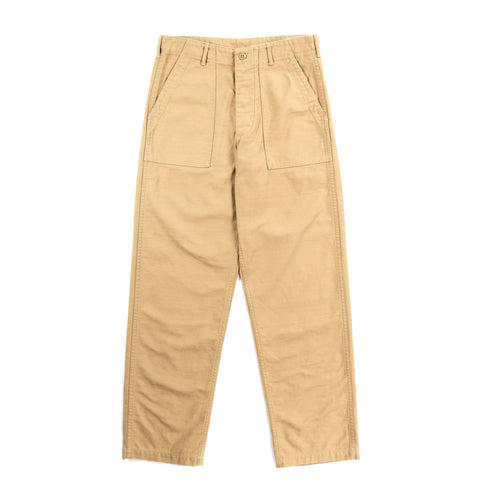 ORSLOW US ARMY FATIGUE PANTS KHAKI REVERSE SATEEN