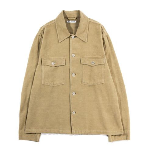 OUR LEGACY EVENING COACH JACKET KHAKI GREEN BRUSHED COTTON