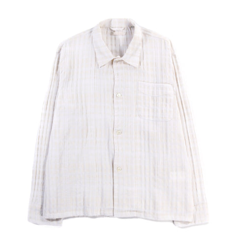 OUR LEGACY BOX SHIRT WHITE / BEIGE CHECK