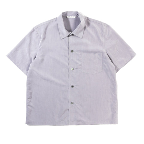 OUR LEGACY BOX SHIRT SHORTSLEEVE GALVANIZED GREY SOLARO