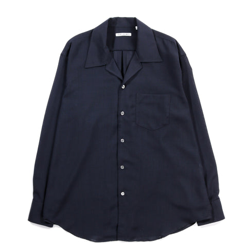 OUR LEGACY LOCO SHIRT DARK NAVY TECH WOOL