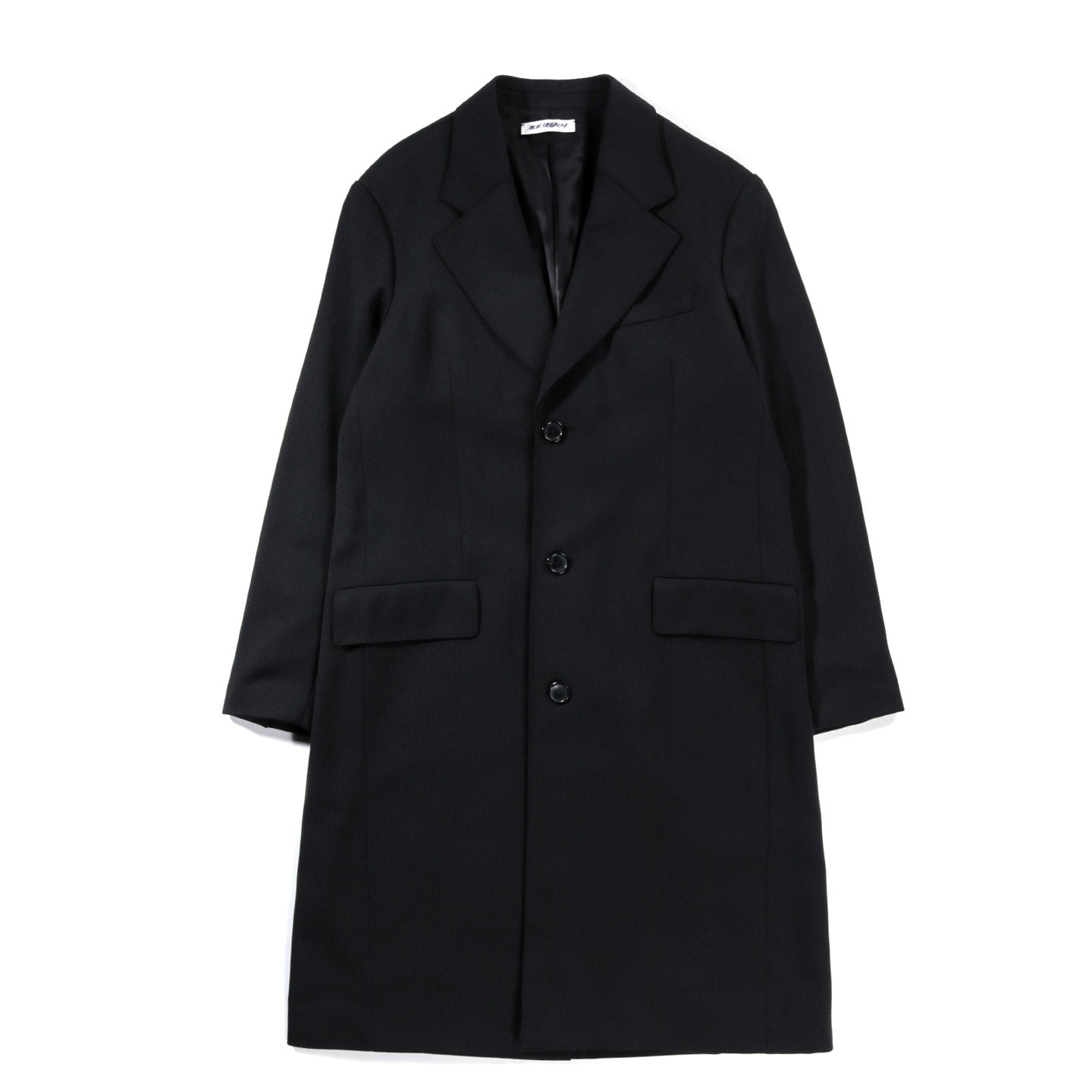OUR LEGACY DOLPHIN COAT BLACK HERRINGBONE