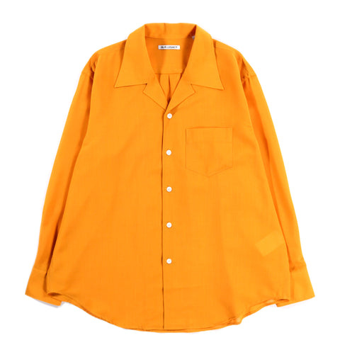 OUR LEGACY LOCO SHIRT SAFFRON YELLOW TECH WOOL