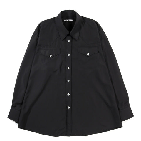OUR LEGACY RANCH SHIRT BLACK DULL LUSTER