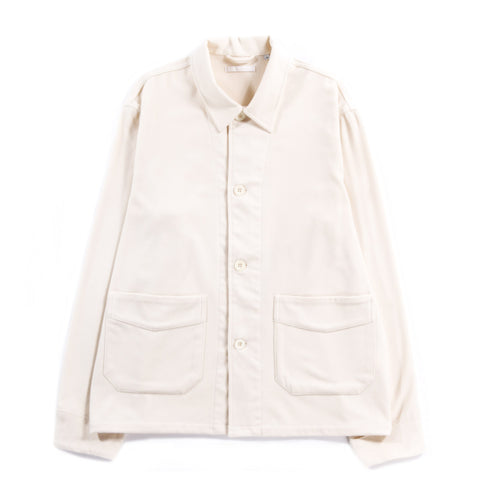 OUR LEGACY ARCHIVE BOX JACKET CREAM WHITE MELTON