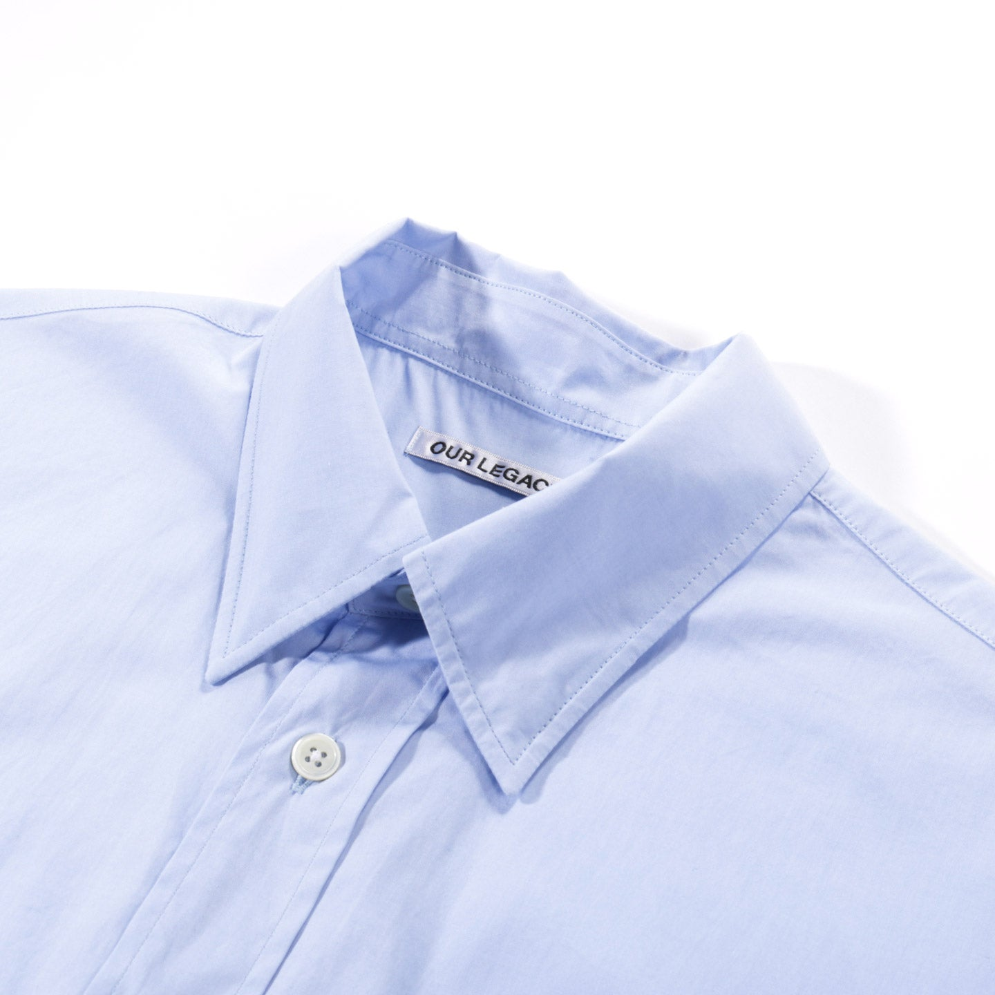 OUR LEGACY NEW BD SHIRT BUSINESS BLUE COTTON
