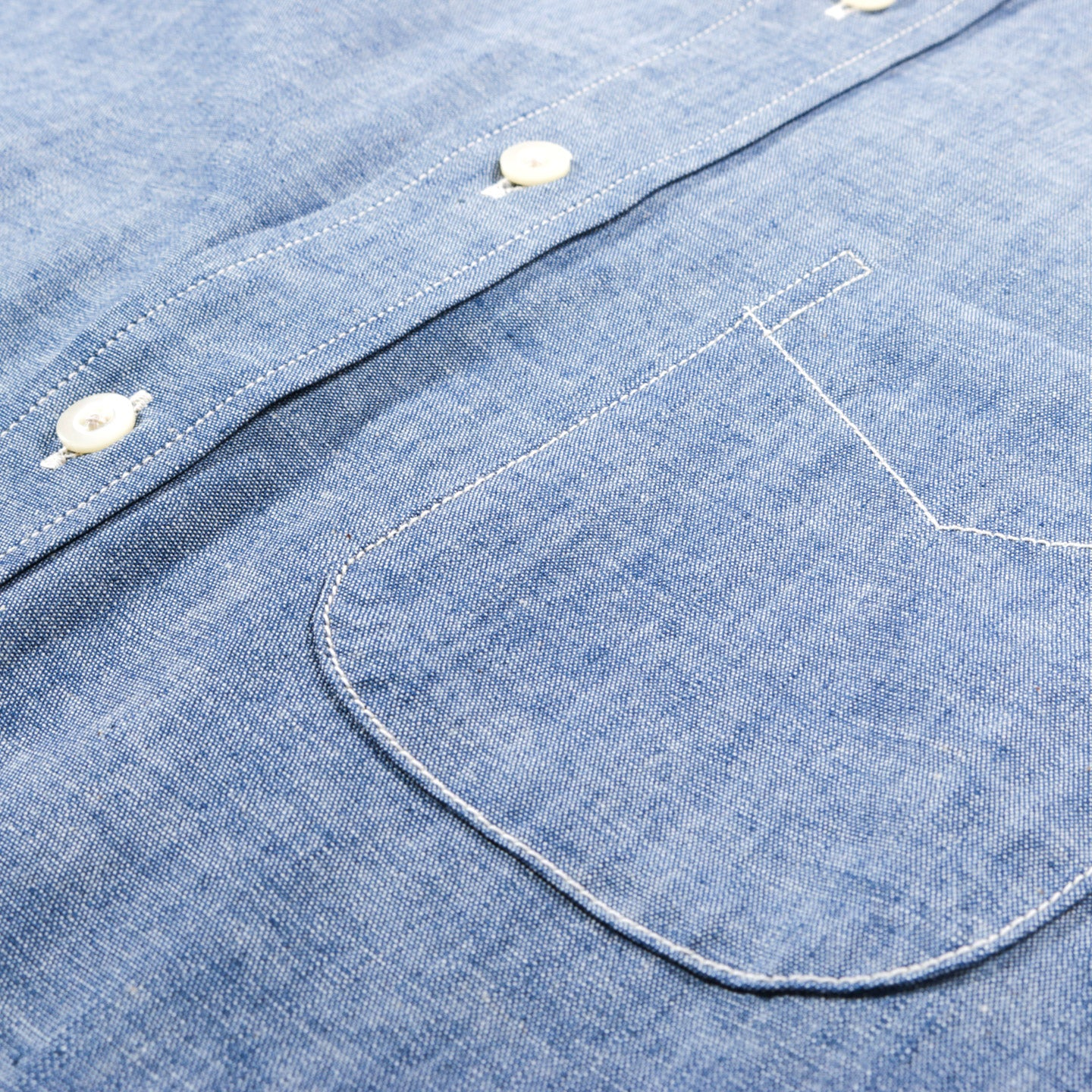ORSLOW BUTTON DOWN SHIRT CHAMBRAY
