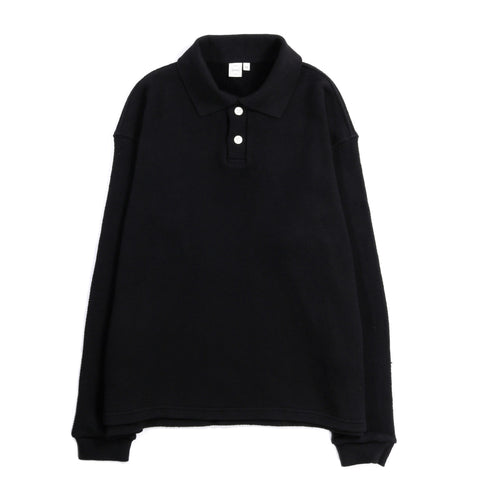 PAA LS POLO SWEATSHIRT BLACK