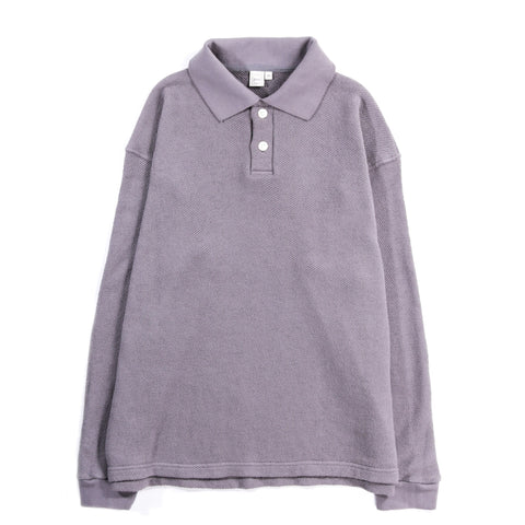 PAA LS POLO SWEATSHIRT SMOKE GREY
