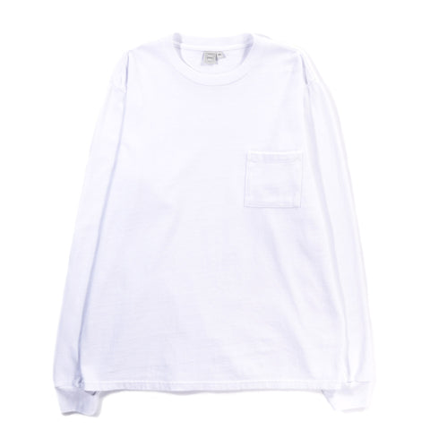 PAA LS POCKET TEE WHITE