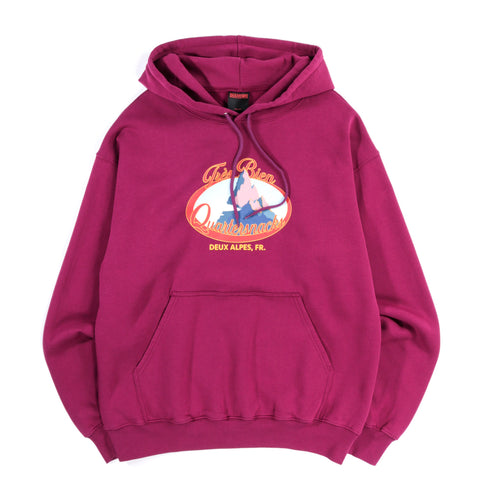 TRES BIEN QUARTER SNACKS TWIN PEAKS HOODIE PURPLE
