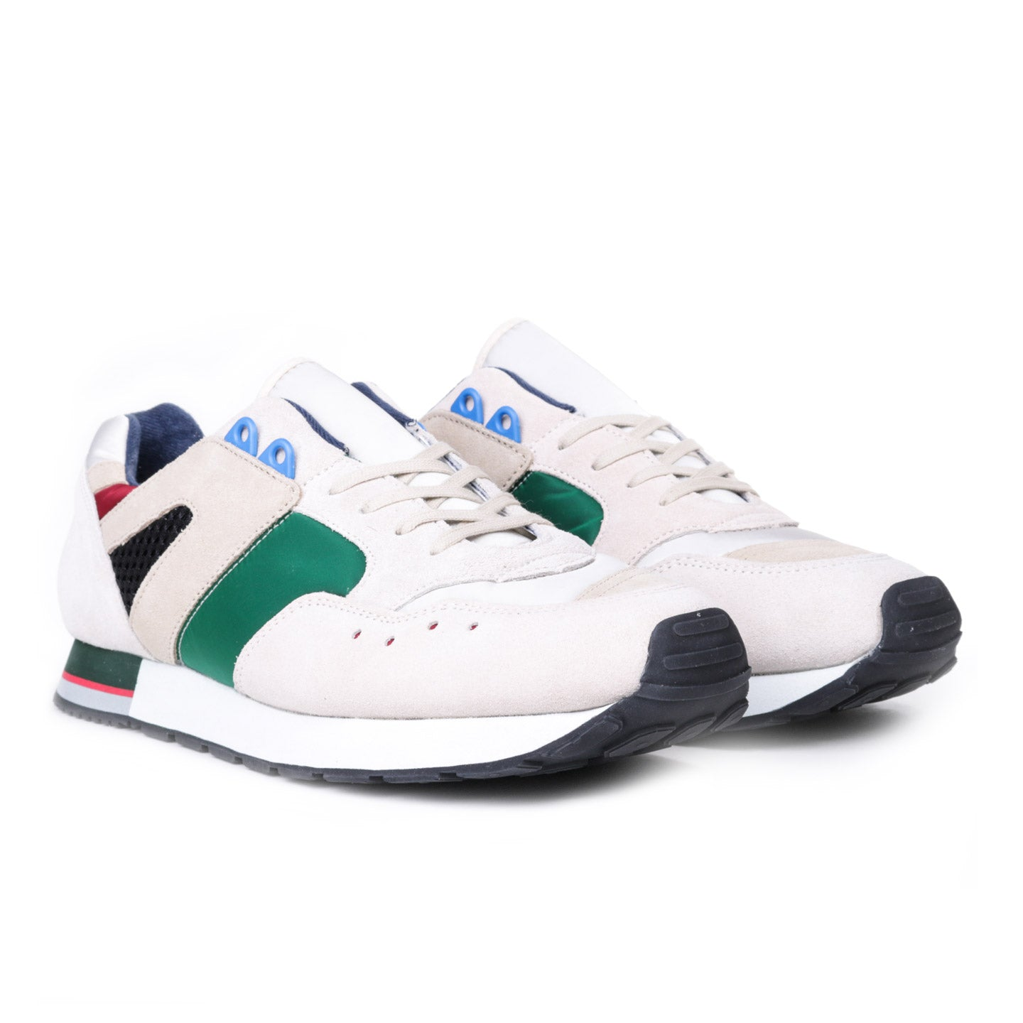 REPRODUCTION OF FOUND FRENCH MILITARY TRAINER GREEN / OFF WHITE