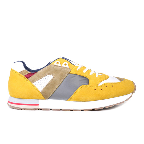 REPRODUCTION OF FOUND FRENCH MILITARY TRAINER SILVER / YELLOW
