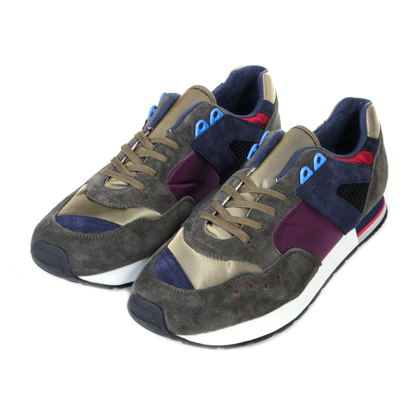 REPRODUCTION OF FOUND FRENCH MILITARY TRAINER PURPLE / OLIVE