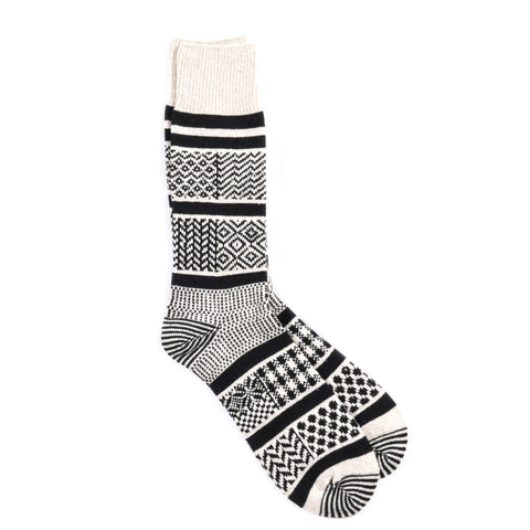 ROTOTO MULTI JACQUARD SOCKS BLACK