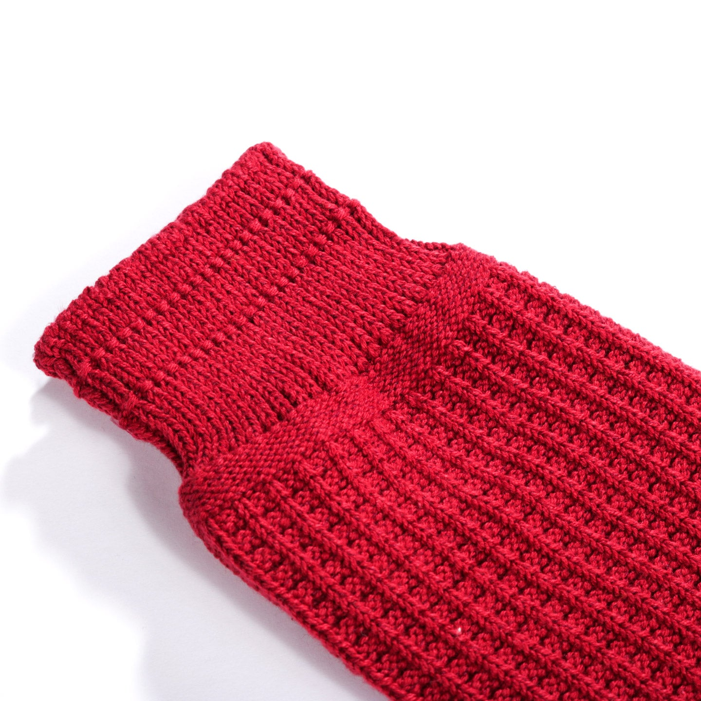 ROTOTO COTTON WAFFLE SOCKS RED