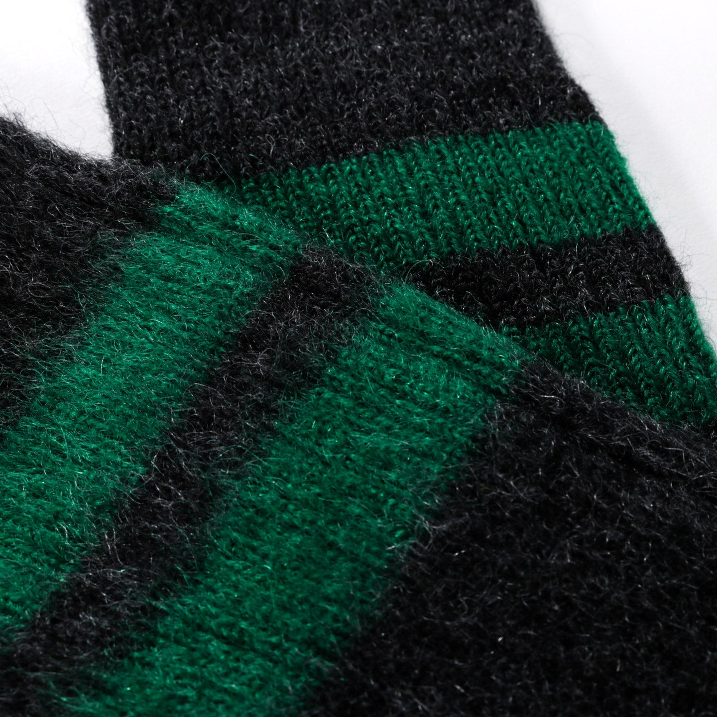 ROTOTO REVERSIBLE MOHAIR SOCKS CHARCOAL