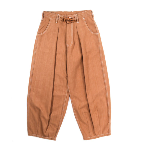 STORY MFG. LUSH PANTS BARK BROWN DENIM