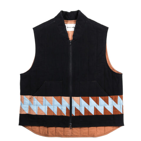 STORY MFG. SATURN VEST IRON BLACK PATCHWORK