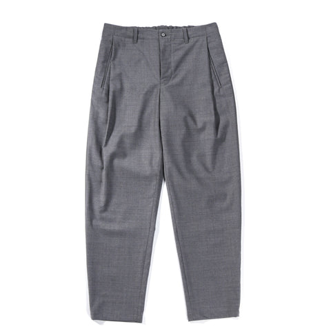 STILL BY HAND EASY FIT SUMMER WOOL PANTS GREY