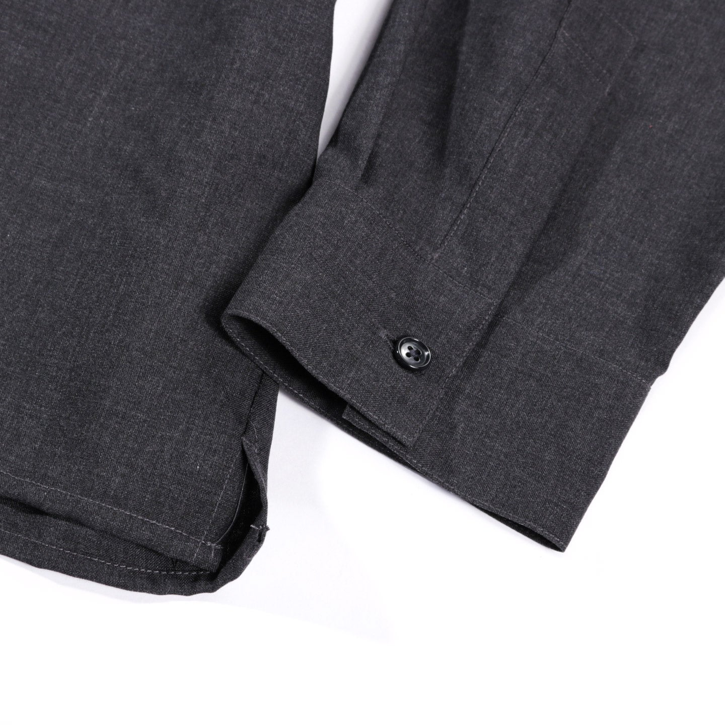 STILL BY HAND WASHABLE WOOL SHIRT CHARCOAL