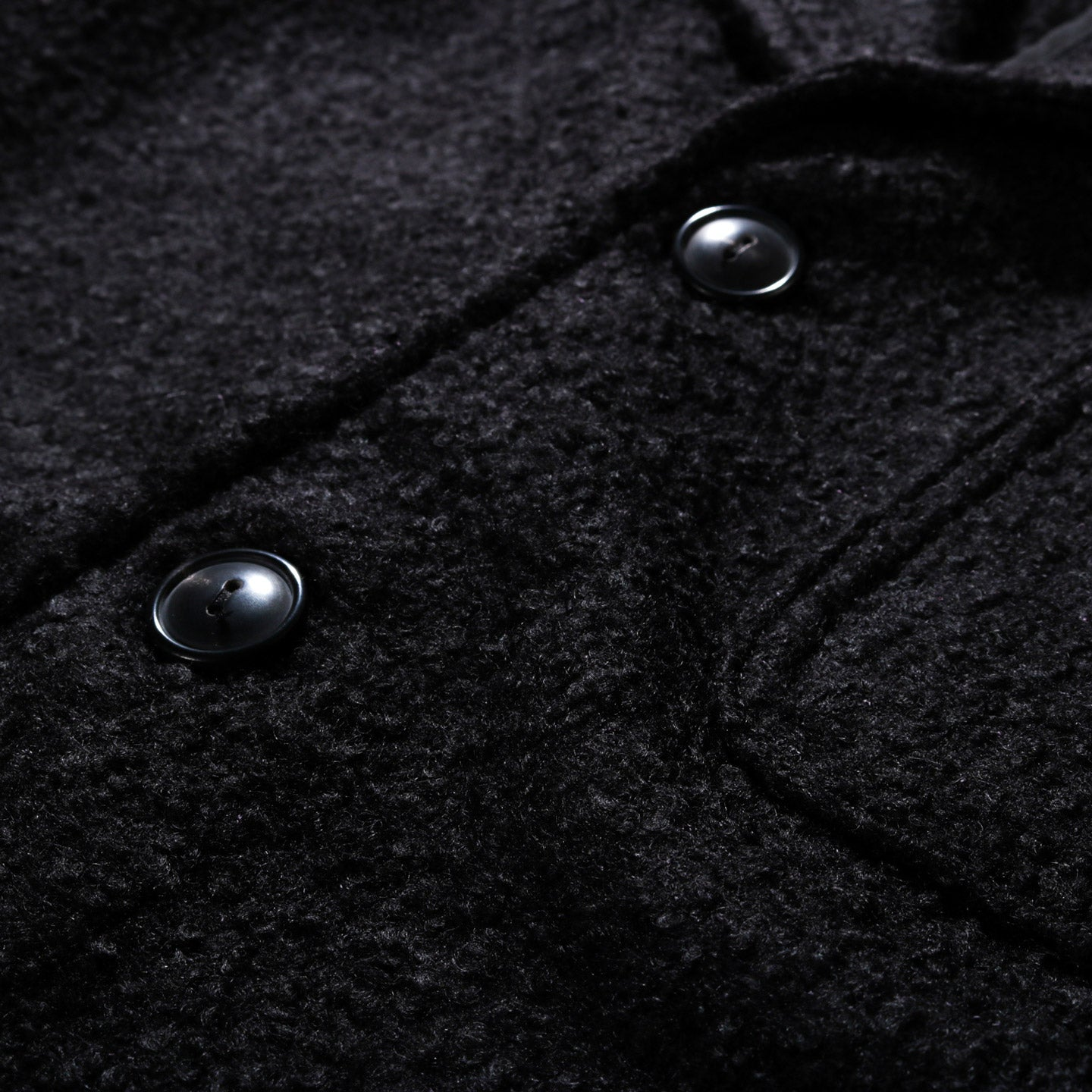HOUSE OF ST. CLAIR CASS JACKET BLACK BOILED WOOL