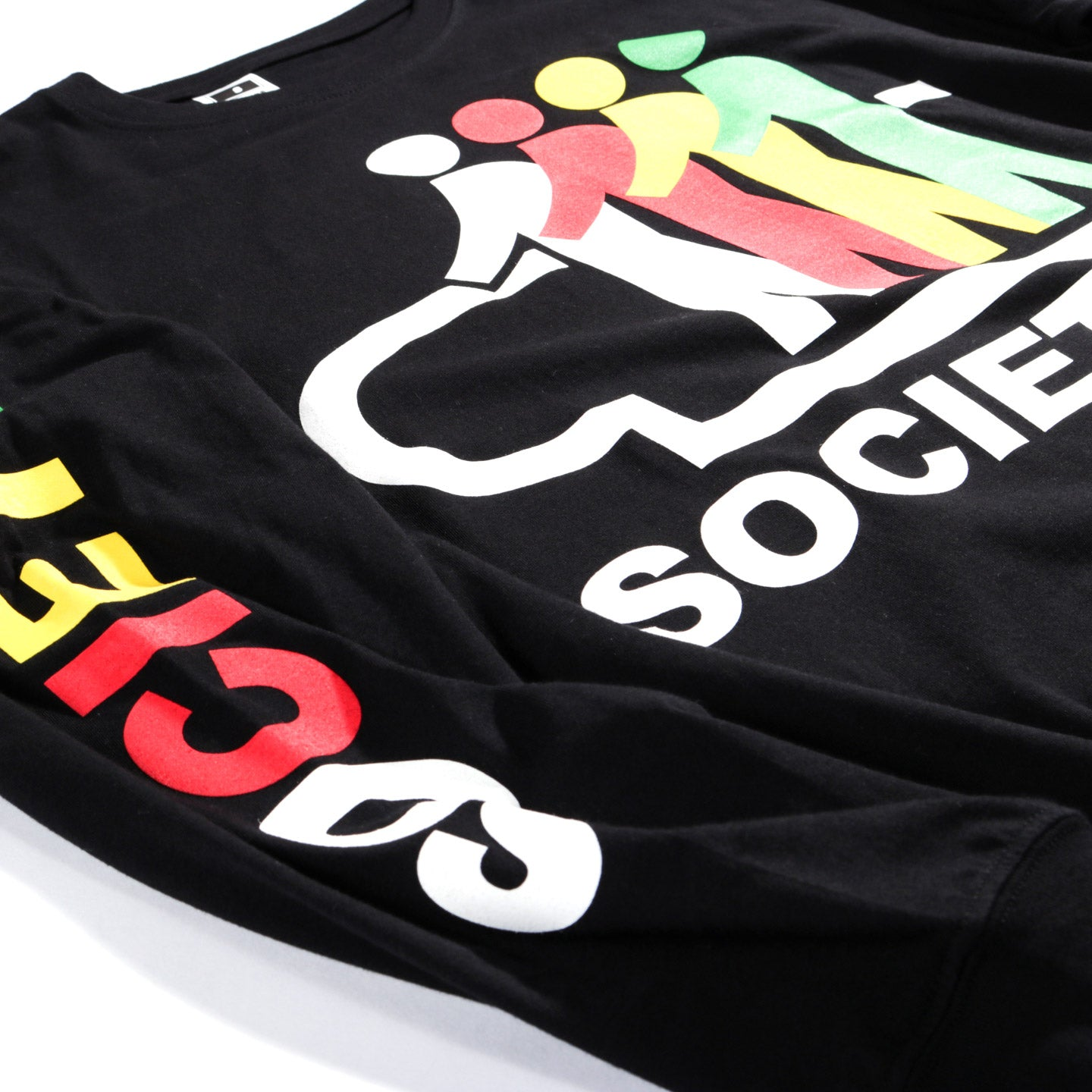 SOCIETY MOVING WALK LS TEE BLACK