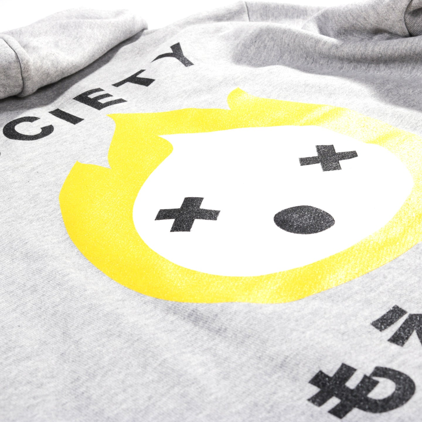 SOCIETY EVERYTHING BURNABLE HOODIE HEATHER GREY