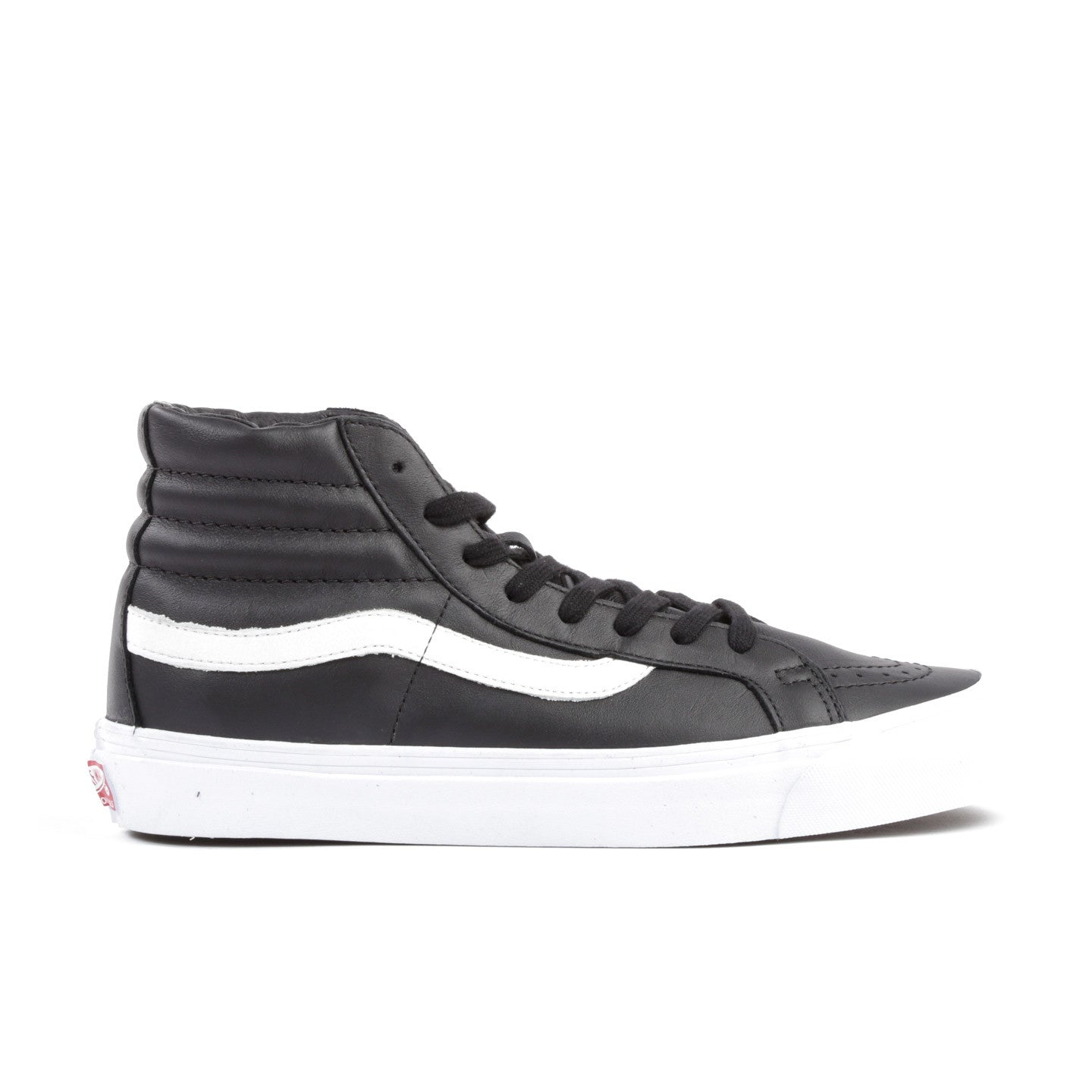 VAULT BY VANS OG SK8-HI LX BLACK LEATHER