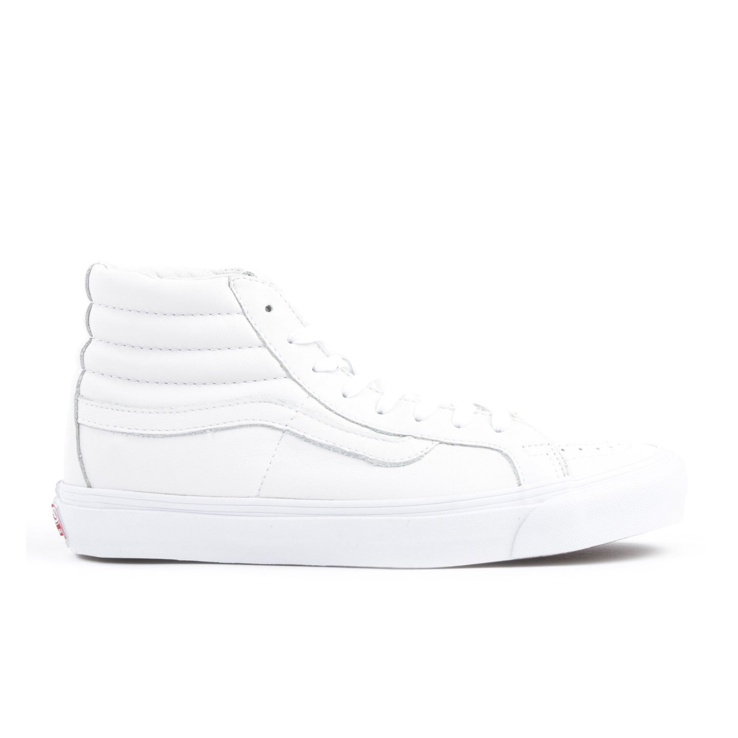 VAULT BY VANS OG SK8-HI LX WHITE LEATHER