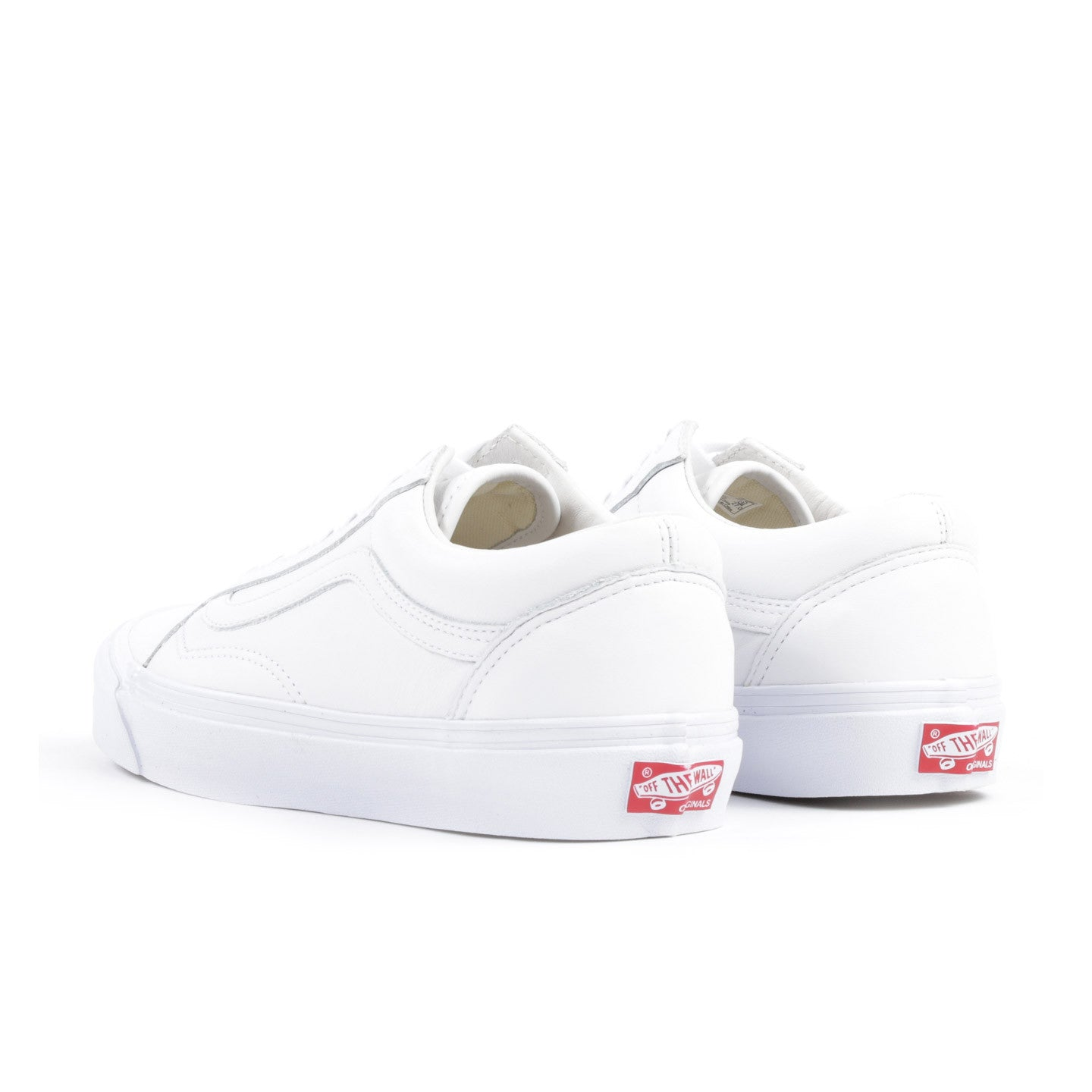VAULT BY VANS OG OLD SKOOL LX WHITE LEATHER