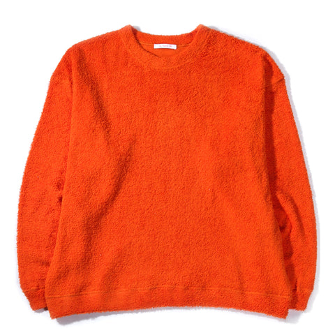 S.K. MANOR HILL CREW NECK SWEATSHIRT ORANGE PILE