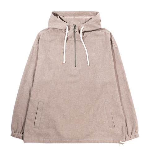 S.K. MANOR HILL POD PULLOVER JACKET TAUPE RAMIE