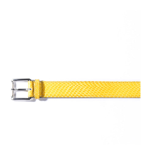 TRES BIEN LEATHER BELT YELLOW SNAKE