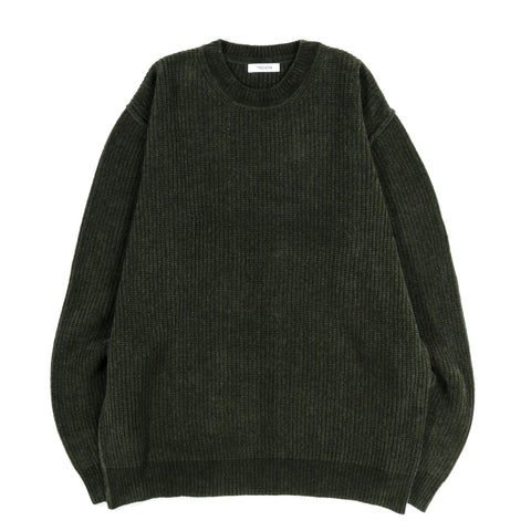 TRES BIEN CHENILLE SWEATER DARK GREEN