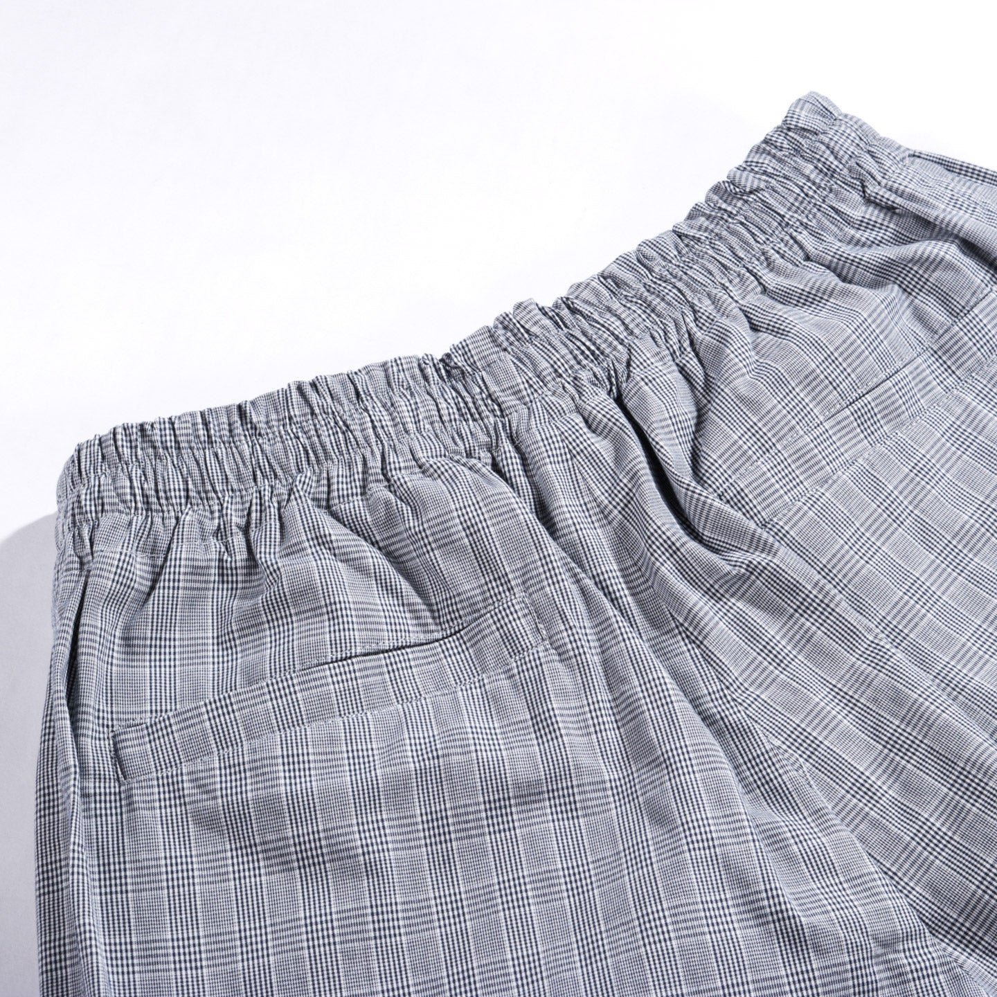 TRES BIEN WARM UP TROUSER SMALL CHECKS BLUE