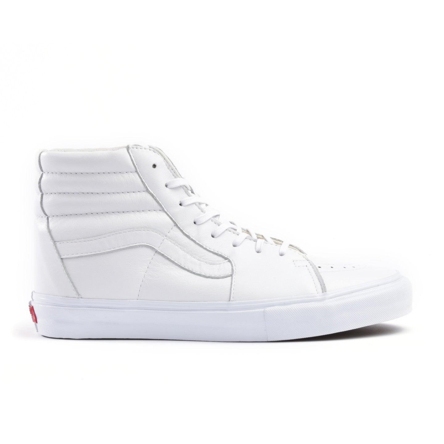 VAULT BY VANS SK8-HI LX WHITE LEATHER