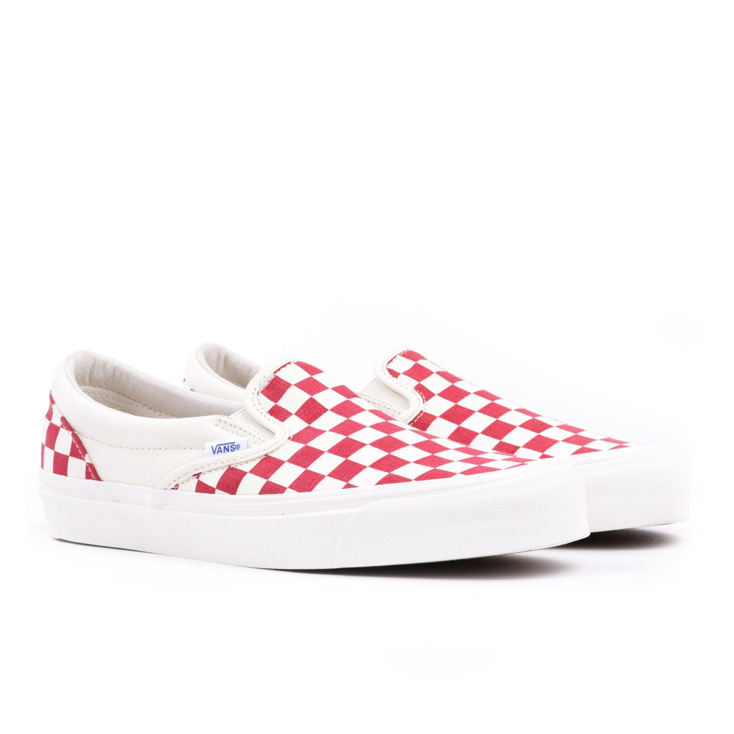 9030377fa14e VAULT BY VANS OG CLASSIC SLIP-ON LX RED CHECKERBOARD CANVAS
