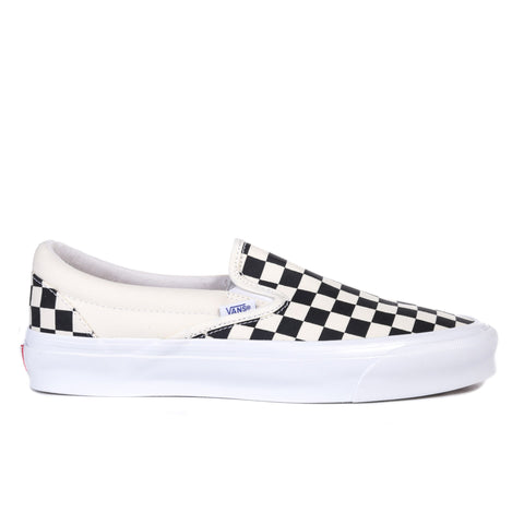 VAULT BY VANS OG CLASSIC SLIP-ON LX CANVAS CHECKERBOARD