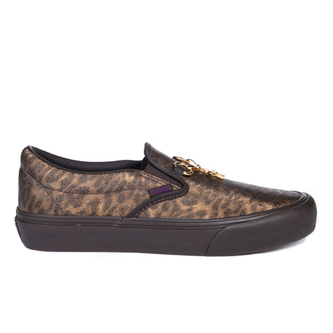 VAULT BY VANS CLASSIC SLIP-ON VLT LX NEEDLES BROWN ZEBRA / LEOPARD